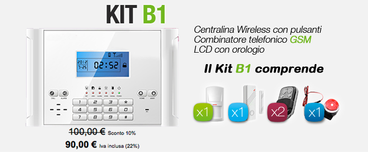 Centralina Wireless Touch screen GSM