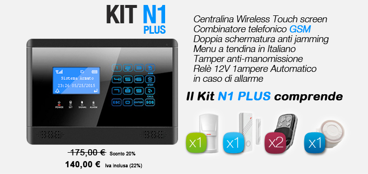 Centralina Wireless Touch screen N plus
