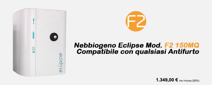 Nebbiogeno Eclipse Mod.F2 150MQ Compatibile con qualsiasi Antifurto