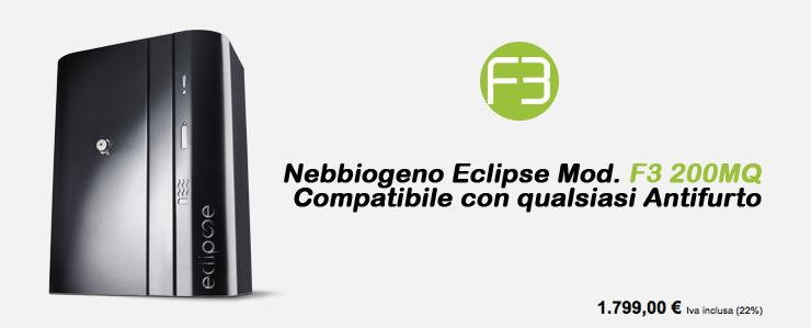 Nebbiogeno Eclipse Mod.F3 200MQ Compatibile con qualsiasi Antifurto