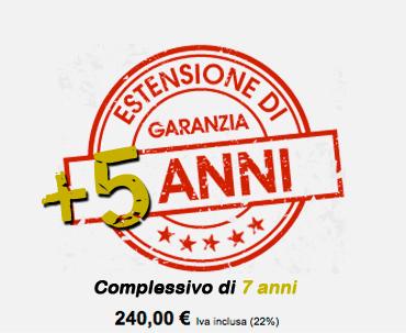 Estensione di Garanzia +5 anni