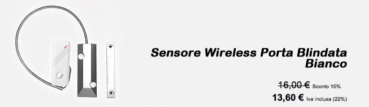 Sensore Wireless Porta Blindata Bianco