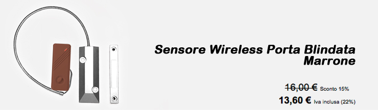 Sensore Wireless Porta Blindata Marrone