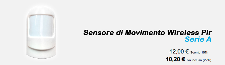 Sensore di Movimento Wireless Pir