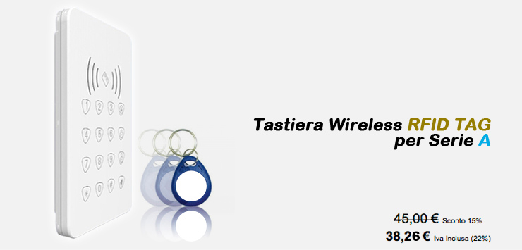 Tastiera Wireless RFID TAG per serie A