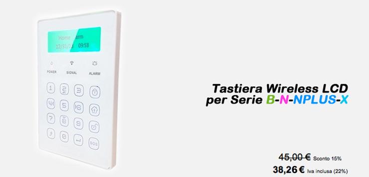Tastiera Wireless LCD per serie B-N-NPLUS-X