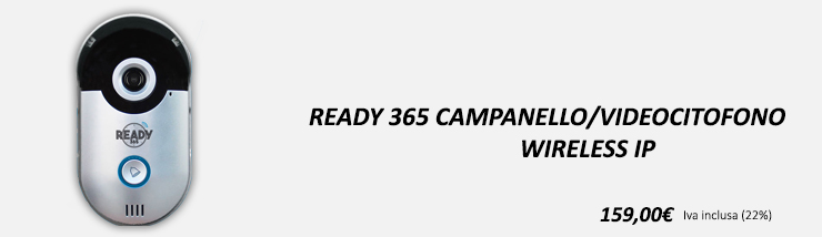 Ready 365 Campanello/Videocitofono Wireless IP