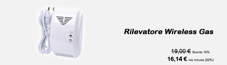 Rilevatore Wireless Gas