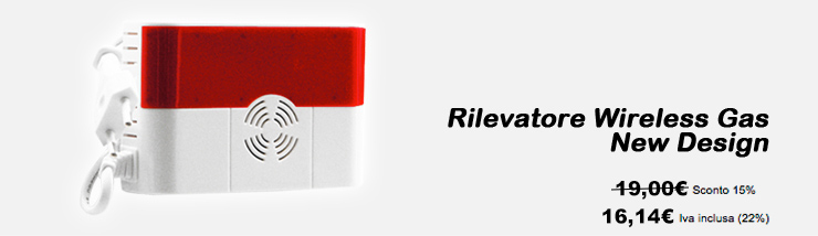 Rilevatore Wireless Gas New Design