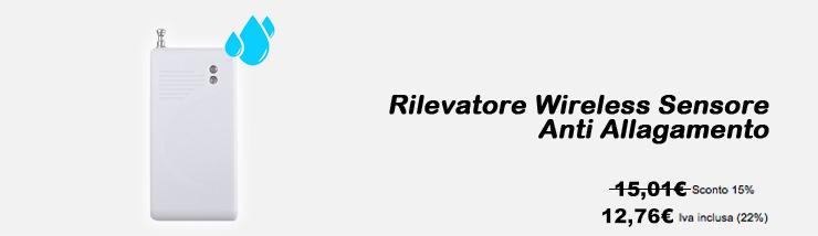 Rilevatore Wireless Sensore Anti Allagamento