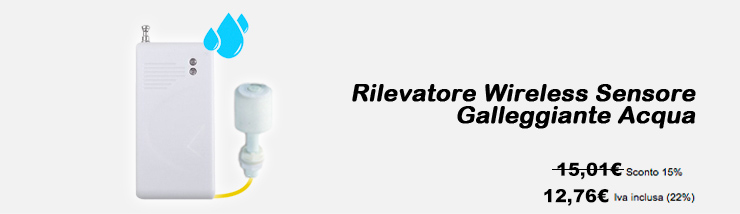 Rilevatore Wireless Sensore Gallegiante Acqua