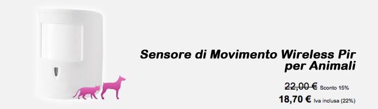 Sensore di movimento Pir per Animali