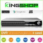 DVR-XVR 4CH VIDEOSORVEGLIANZA HDD 500GB HD READY P2P HDMI