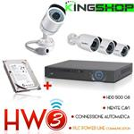 KIT HW3 BEST SECURITY VIDEOSORVEGLIANZA NVR PLC POWER LINE COMMUNICATION