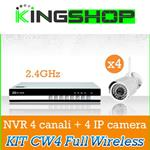 KIT CW4 BEST SECURITY NVR 4 CANALI 2.4GHZ + IP CAMERA