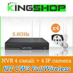 KIT CW3 BEST SECURITY NVR 4 CANALI 5.8GHZ + IP CAMERA