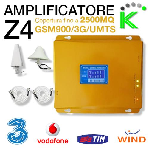 Z4-3 AMPLIFICATORE SEGNALE DUAL BAND GSM900/3G-UMTS