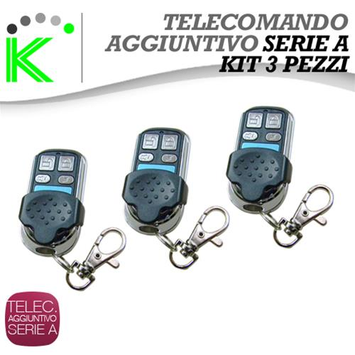 KIT N° 3 TELECOMANDI SUPPLEMENTARI WIRELESS A