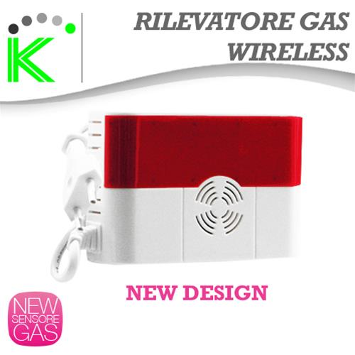 SENSORE RILEVATORE GAS WIRELESS NEW DESIGN