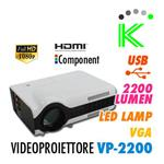 VIDEOPROIETTORE VP2200 HD READY USB LED LAMP HDMI