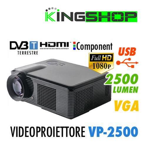 VIDEOPROIETTORE VP 2500 DVTB FULL HD DIGITALE TERRESTRE INTEGRATO