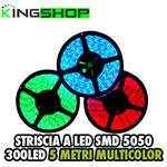 5M LED 5050 MULTICOLOR  ALTA LUMINOSITÀ RGB + TELECOMANDO