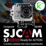 "SJ4000 SILVER 1080P Full HD ACTION CAMERA SPORT 1,5"" DISPLAY SJCAM"