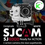 "SJ4000 WHITE 1080P Full HD ACTION CAMERA SPORT 1,5"" DISPLAY SJCAM"