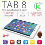 "TAB 8 3G GPS WIFI DISPLAY 8"" HD IPS FUNZIONE TELEFONO 8GB QUADCORE"