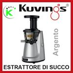 KUVINGS ESTRATTORE A BASSI GIRI SILENT JUICER NS850 SV ARGENTO KVG NS998 SV