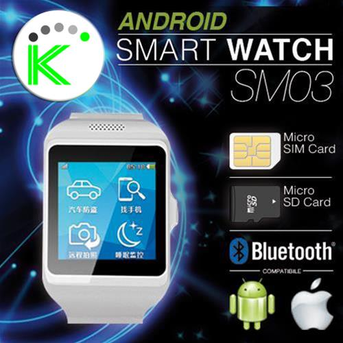 ANDROID SMART WATCH OROLOGIO TELEFONO BLUETOOTH MOD. SM03