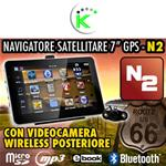 "NAVIGATORE GPS 7"" + CAMERA WIRELESS MAPPE EUROPA"
