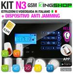 ANTIFURTO GSM WIRELESS N3 BLACK EDITION