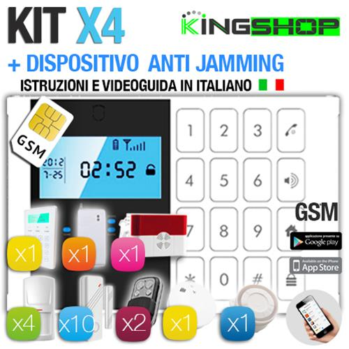 ANTIFURTO GSM WIRELESS X4