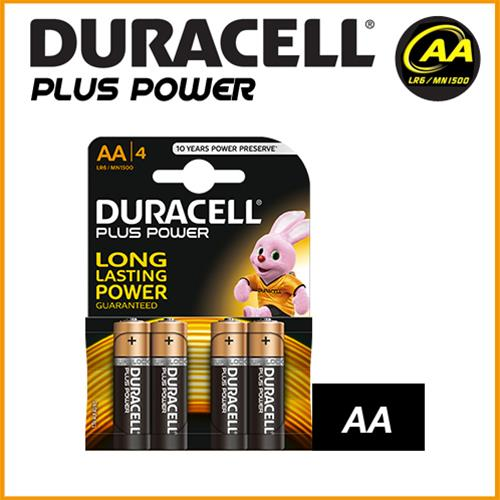 DURACELL PLUS POWER DURALOCK ALCALINE STILO AA - BLISTER 4 BATTERIE