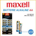 MAXELL BATTERIE STILO AA - BOX 12 BATTERIE