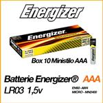ENERGIZER INDUSTRIAL ALCALINE MINISTILO AAA - BOX 10 BATTERIE