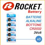 ROCKET LITHIUM CR2032 PILE 3V - BLISTER 5 BATTERIE